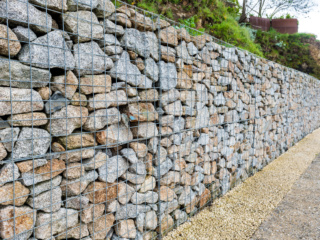 What are gabion walls?
